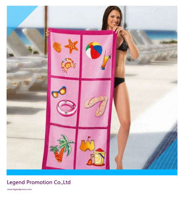 China Custom printed promotional beach towel / bath towel factory